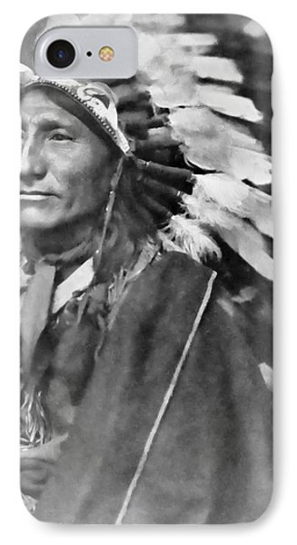 Indian Chief - 1902 IPhone Case by Daniel Hagerman