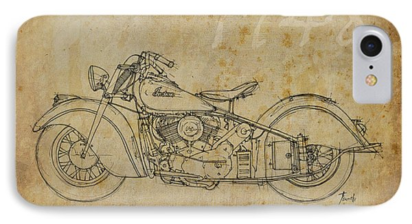 Indian Chief 1948 Phone Case by Pablo Franchi