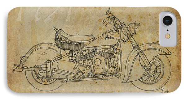 Indian Chief 1951 IPhone Case by Pablo Franchi