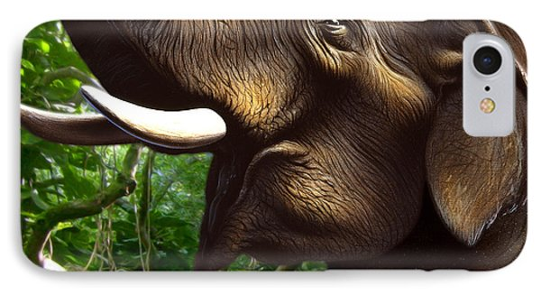 Indian Elephant 1 IPhone Case by Jerry LoFaro