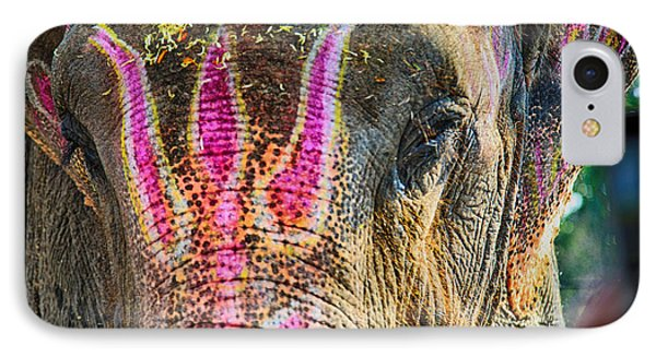 Indian Elephant IPhone Case by John Hoey