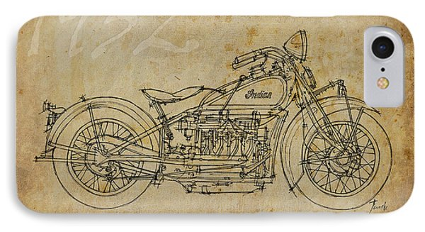 Indian Four 1932 IPhone Case by Pablo Franchi