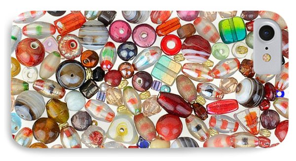Indian Glass Beads IPhone Case by Jim Hughes