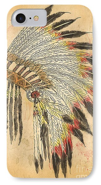 Indian Head Dress-b IPhone Case by Jean Plout