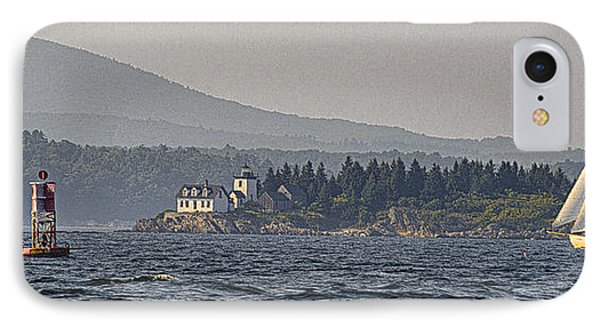 IPhone Case featuring the photograph Indian Island Lighthouse - Rockport - Maine by Marty Saccone