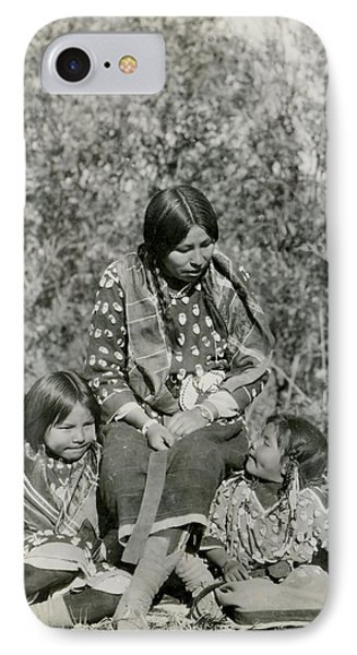 IPhone Case featuring the photograph Indian Mother With Daughters by Charles Beeler