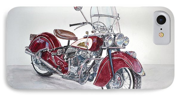 Indian Motorcycle IPhone Case by Anthony Butera