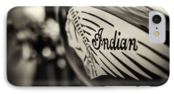 Indian Motorcycle Sepia IPhone Case by Tim Gainey