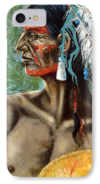 IPhone Case featuring the painting Indian North Americano by Dmitry Spiros