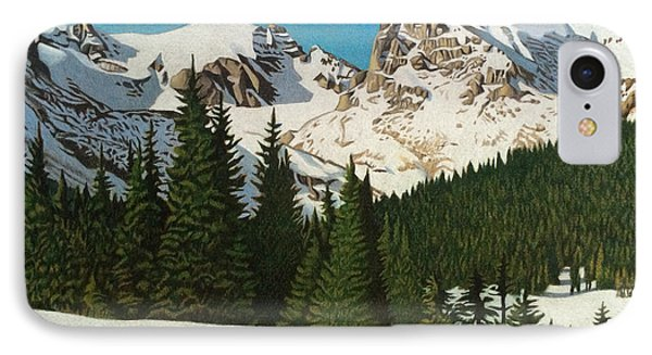 Indian Peaks Winter IPhone Case by Dan Miller