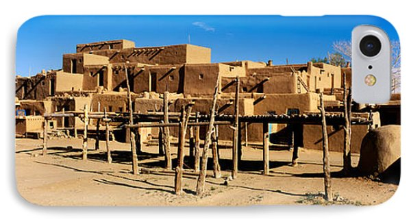 Indian Pueblo, Taos, New Mexico, Usa IPhone Case by Panoramic Images