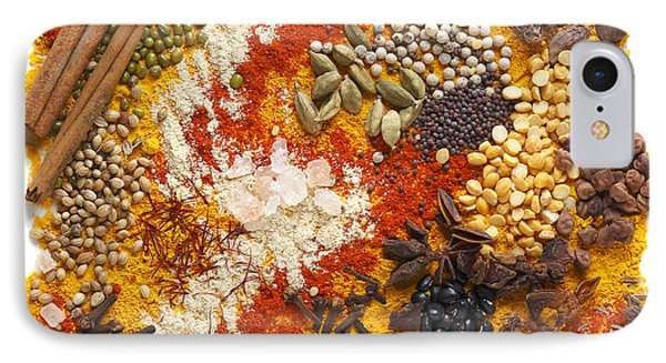 Indian Pulses And Spices IPhone Case by Paul Cowan
