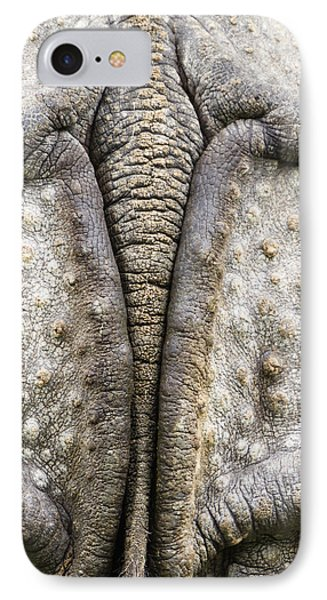 Indian Rhinoceros Tail Phone Case by Konrad Wothe
