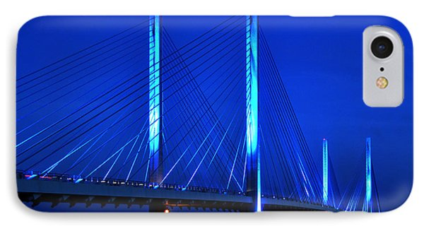 Indian River Bridge At Night IPhone Case by Bill Swartwout