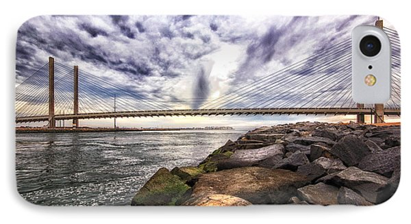 Indian River Bridge Clouds IPhone Case by Bill Swartwout
