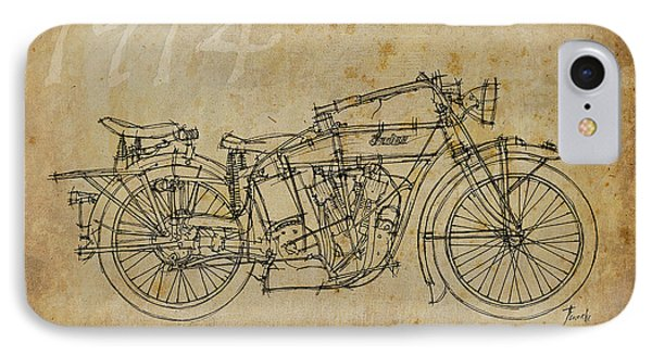 Indian V-twin 1914 Phone Case by Pablo Franchi