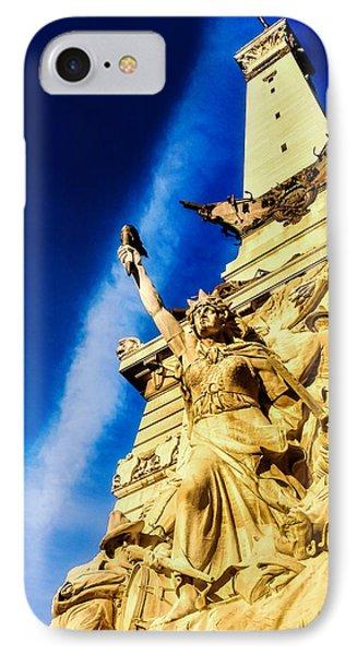 Indiana Civil War Monument IPhone Case by Jon Woodhams