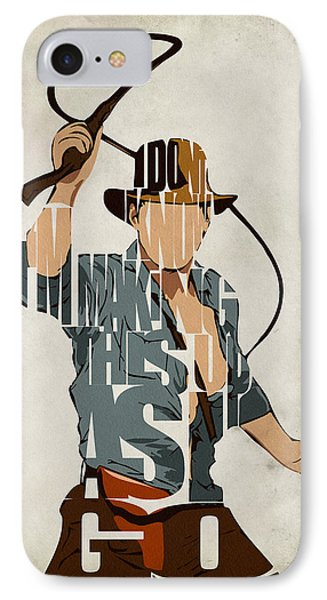 Indiana Jones - Harrison Ford IPhone Case by Ayse Deniz