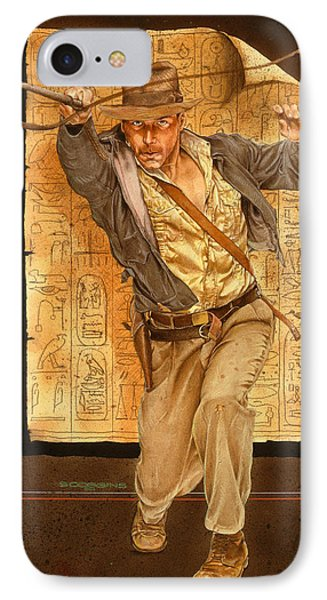 Indiana Jones IPhone Case by Timothy Scoggins