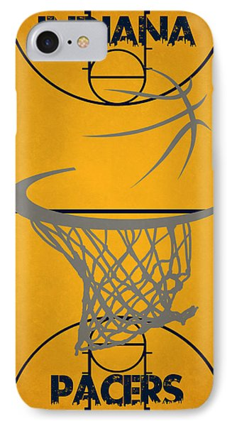 Indiana Pacers Court IPhone Case by Joe Hamilton