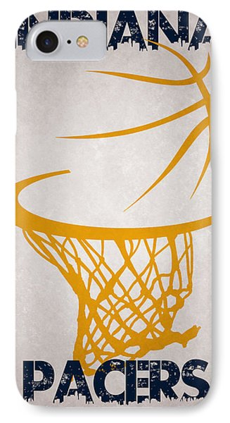Indiana Pacers Hoop IPhone Case by Joe Hamilton