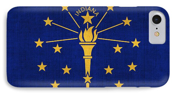 Indiana State Flag Phone Case by Pixel Chimp