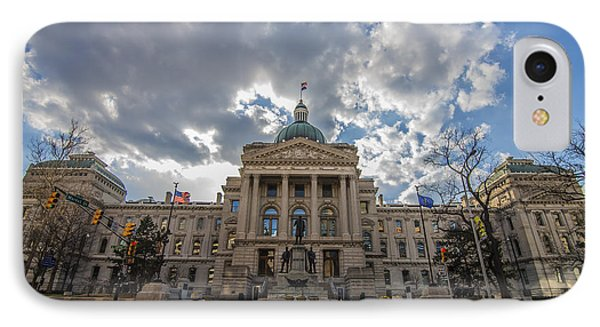 Indiana State House Low IPhone Case by David Haskett