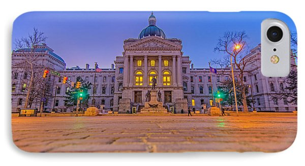 Indiana State House Night Hdr IPhone Case