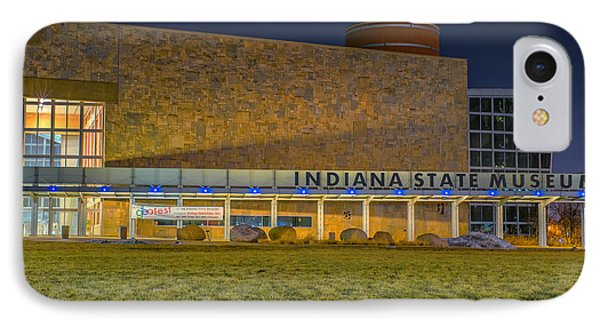 Indiana State Museum Night Delta IPhone Case by David Haskett