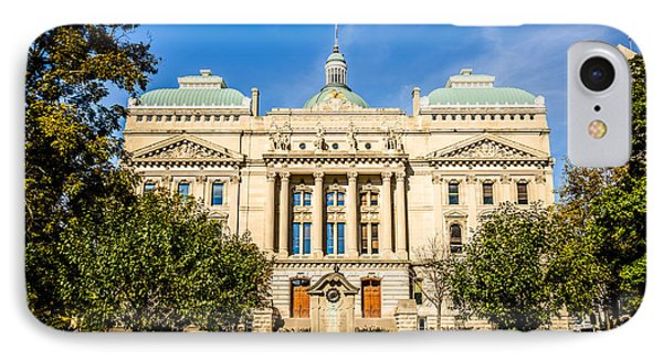 Indiana Statehouse State Capital Building Picture Phone Case by Paul Velgos
