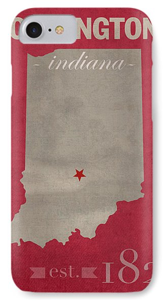 Indiana University Hoosiers Bloomington College Town State Map Poster Series No 048 IPhone Case