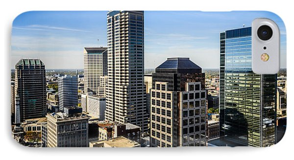 Indianapolis Aerial Picture Of Downtown Office Buildings Phone Case by Paul Velgos