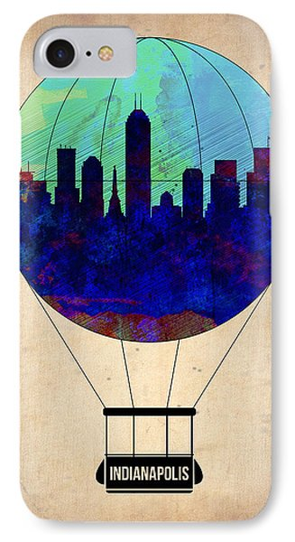 Indianapolis Air Balloon IPhone Case by Naxart Studio