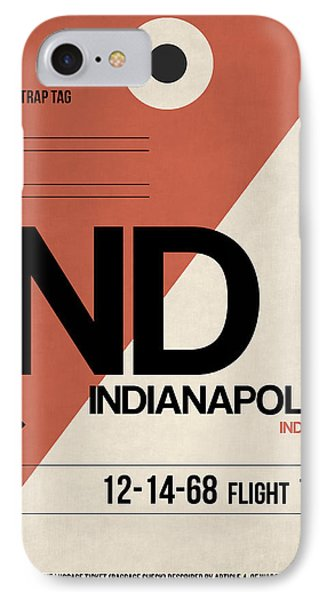 Indianapolis Airport Poster 1 IPhone Case by Naxart Studio