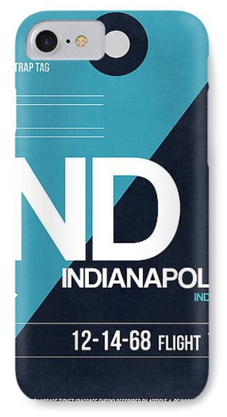 Indianapolis Airport Poster 2 IPhone Case by Naxart Studio
