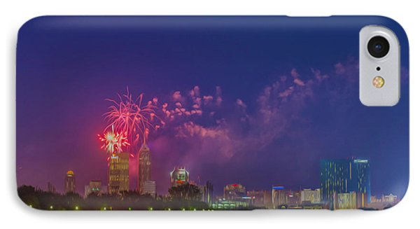 Indianapolis Indiana 4th July Digital Oil  IPhone Case by David Haskett