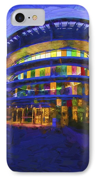 Indianapolis Indiana Museum Of Art Painted Digitally IPhone Case by David Haskett