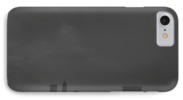 Indianapolis Indiana Raining Black White Grain IPhone Case by David Haskett