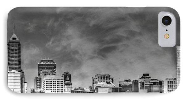 Indianapolis Indiana Skyline 0762 IPhone Case by David Haskett