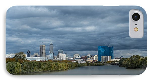Indianapolis Indiana Skyline Fj Storm IPhone Case by David Haskett