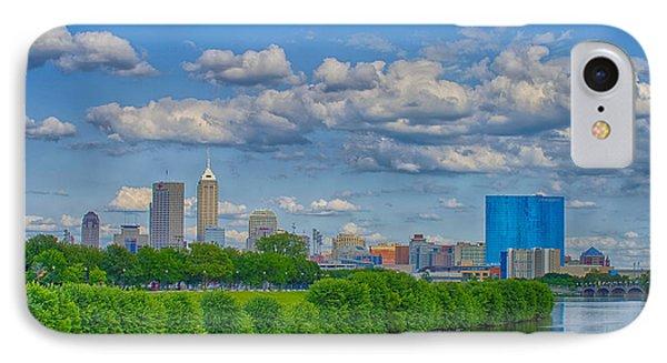 Indianapolis Indiana Skyline Hdr 9906 IPhone Case