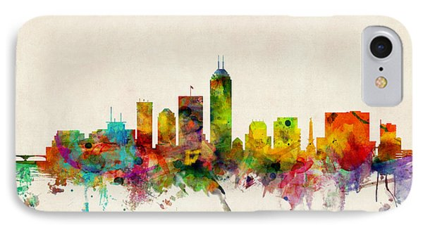 Indianapolis Indiana Skyline Phone Case by Michael Tompsett