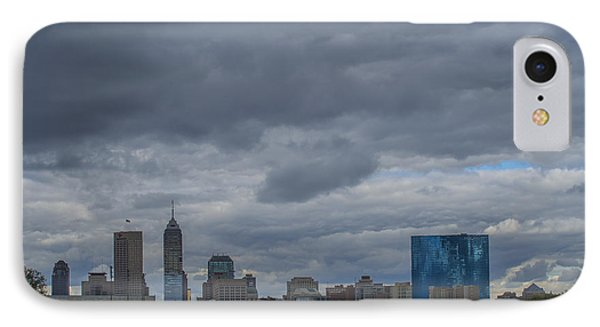 Indianapolis Indiana Skyline N Storm IPhone Case by David Haskett