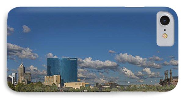 Indianapolis Indiana Skyline Pano 10 IPhone Case by David Haskett
