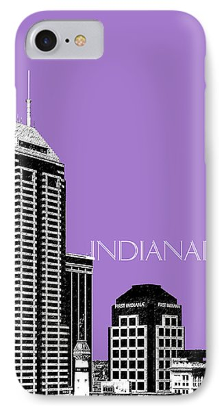 Indianapolis Indiana Skyline - Violet IPhone Case by DB Artist
