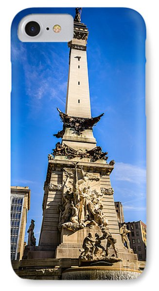 Indianapolis Indiana Soldiers And Sailors Monument Picture Phone Case by Paul Velgos