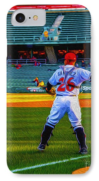 Indianapolis Indians Catcher Phone Case by David Haskett