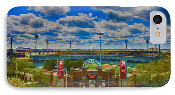 Indianapolis Indians Victory Field Phone Case by David Haskett