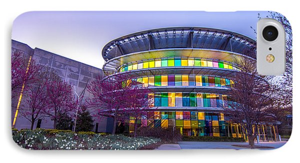 Indianapolis Museum Of Art Blue Hour Lights Phone Case by David Haskett