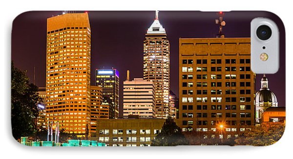 Indianapolis Skyline At Night Picture Phone Case by Paul Velgos